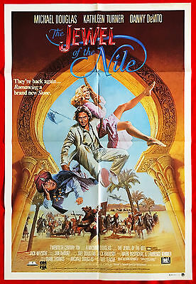 THE JEWEL OF THE NILE -Original Australian cinema release One Sheet movie poster