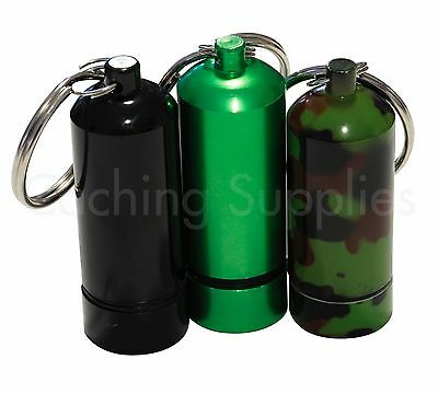 Bison Tube Geocache Container with Log for Geocaching (Camo, Green or Black)