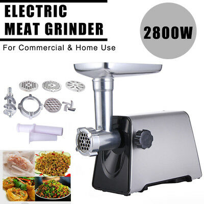 Commercial Electric Meat Grinder Stainless Steel Industrial Grade Sausage Maker