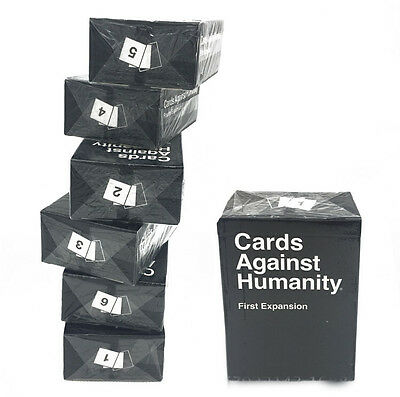 Party Game AgainstHumanity Cards First Second Third Fourth Fifth Sixth Expansion