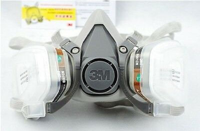 New Respirator Painting Spray Gas Mask 3M 6200 501 5N11 6001 7502 7pcs set suit
