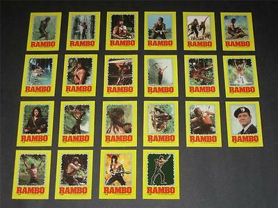 Rambo - Complete Sticker Trading Card Set (22) - 1985 TOPPS - NM