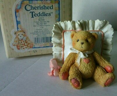 """Collectible Mandy China Teddy Figurine """"I Love Just The Way You Are"""" Bear Gift"""