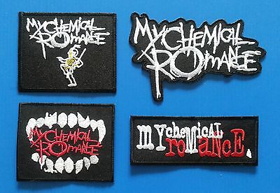 4  LOT MY CHEMICAL ROMANCE Iron Embroidered Sewn On Iron On  Patches Free Ship