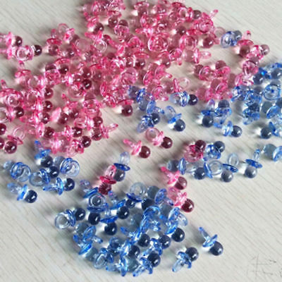 Baby Shower Party Favours Blue Pink Pacifiers Christening Party Cake Decorations