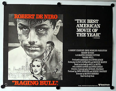 Raging Bull (1980) Original UK Movie Quad Poster Robert De Niro