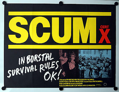 Scum (1979) Original UK Movie Quad Poster Ray Winstone
