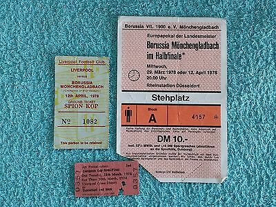 1978 - European Cup Semi Final Tickets - Both Legs + Chartered Train Ticket
