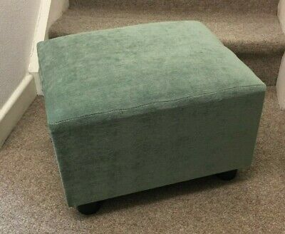 Footstool / pouffe / small box stool green velvet gift present British made
