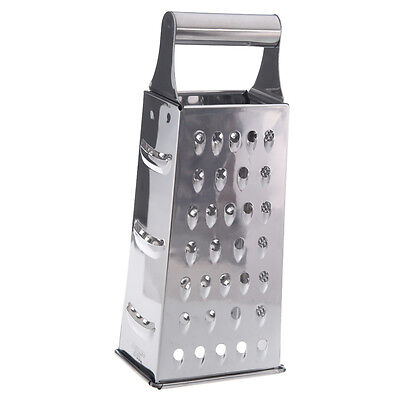 Stainless Steel 4 Sided Box Grater (Silver) Q5A5