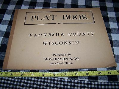 Old 1910-25 WAUKESHA County Wisconsin Plat Book Advertising New Berlin Eagle WOW