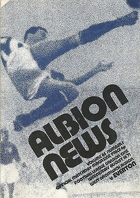 West Bromwich Albion v Everton, 18 August 1971, Division 1