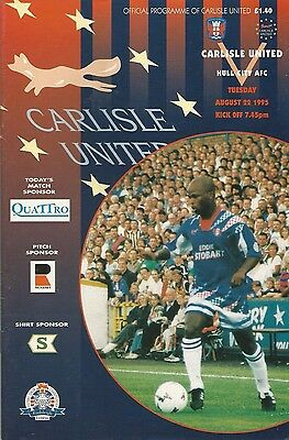 Carlisle United v Hull City, 22 August 1995, League Cup