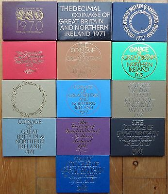Royal Mint Proof Coin Year Sets 1970 To 1982 Birthday Coin Year Sets