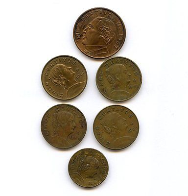 6X 1967 10 Centavos 1961 1962 1964 1966 1972 5 Centavos Coin Lot Ungraded