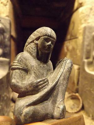 Egyptian statue museum replica of a scribe - 18th dynasty sculpture / figure