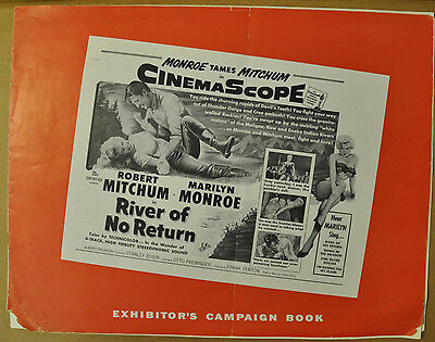 River Of No Return 1954 Pressbook Marilyn Monroe Robert Mitchum Rory Calhoun