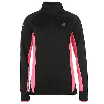 Ladies Karrimor Lightweight Zip Fleece Running Jacket Pink Black Top Size 6 XXS