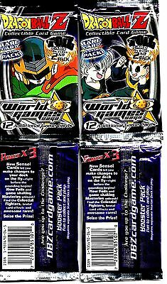 *2002* Dragon Ball Z* World Games Saga*  Booster Pack* Lot of 4*Limited Edition*
