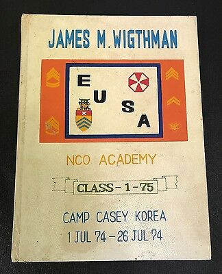 1974 US Army Camp Casey Korea NCO Academy Yearbook