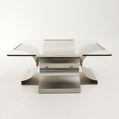 Tavolino quadrato design Francois Monnet, Kappa anni '70, coffee table vintage