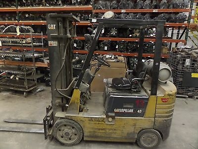1997 97 Caterpillar Cat Forklift Fork Lift Model GC20 Propane Powered