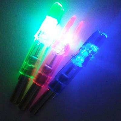 12x Glowing Luminous LED Lighted Arrow Nocks Tail for Recurve Bow Arrows Fitting