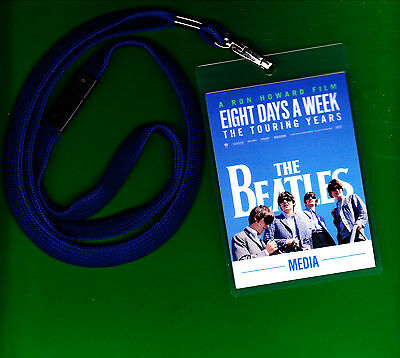 Beatles EIGHT DAYS A WEEK Premiere MEDIA PASS NO Ticket Lennon Mccartney Ringo