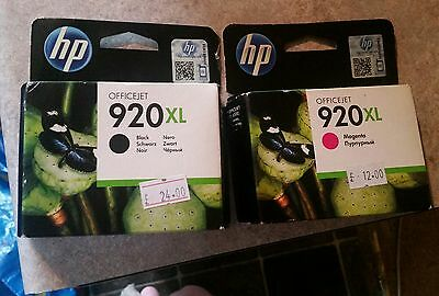 Genuine Hp Officejet 920Xl Magenta And Black Cartridges Ood June 14 And Nov 15