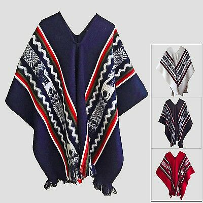 Wholesale Lot Of 10 Llama Wool Unisex South American Poncho Cape Coat Jacket