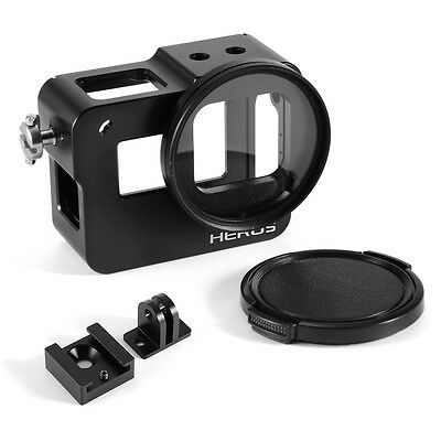 Aluminum Protective Housing Case Cover w/ 52mm UV Filter for Gopro Hero 5 OS860