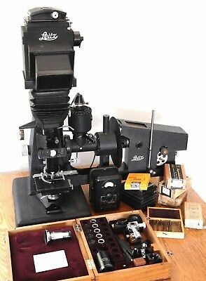 Leitz Panphot Biological Microscope photographic equipment kit rare light source