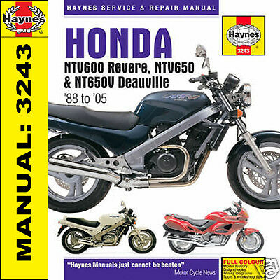 Haynes Honda NTV600 Revere NTV650 Deauville Manual Plus NT400 & NT650 3243 NEW