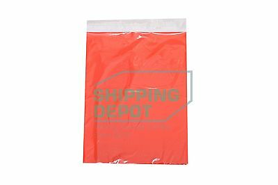 """100 10x13 Red Color Designer Poly Mailer Shipping Self Seal Bags 10"""" x 13"""""""