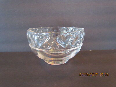 Tiffany & Co Crystal Glass Bowl With Hearts Rim Germany Signed Original Label!