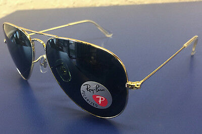ray ban sunglasses classic sqp3  Ray-Ban Sunglasses RB3025 Aviator 001/58 Gold/POLARIZED Green Classic G