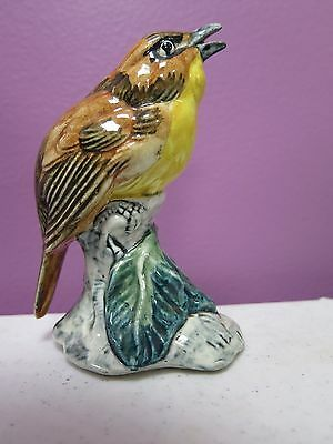 Beautiful Chat #3590- Excellent - Art Pottery Bird/Animal Figurine