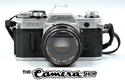 Canon AE-1 35mm SLR Film Camera with FD 50mm Lens