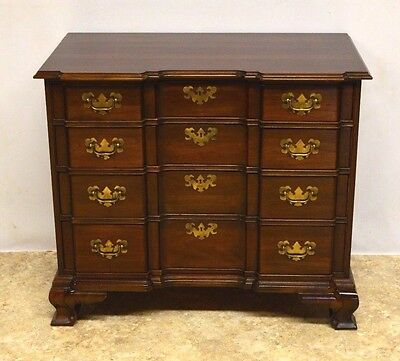 Ethan Allen Georgian Court Solid Cherry Block Front Chest