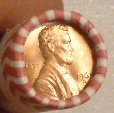 1969S Lincoln Memorial Cent Uncirculated Original Penny Sealed Rolls