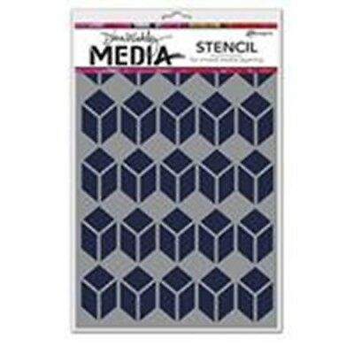 "Dina Wakley Media 6""x9"" Stencil - Stacked Squares (MDS52449)"