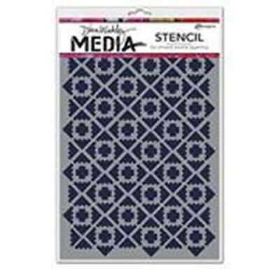 "Dina Wakley Media 6""x9"" Stencil - Almost Ikat (MDS52401)"