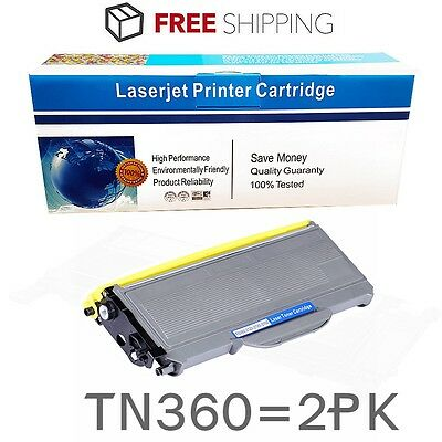 2PK TN360 Toner Cartridge for Brother DCP-7030 MFC-7320 MFC-7345DN MFC-7840W