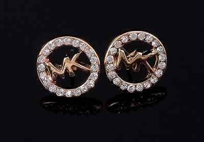 New Fashion Women M Word Crystal Ear Stud Dangle Earrings Charming UK gifts