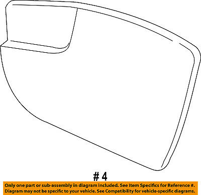 FORD OEM 13-16 Fusion Outside Mirrors-Front Door-Mirror Glass Left DS7Z17K707E