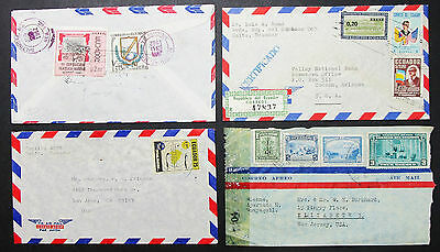 Ecuador Airmail Set of 4 Covers Letters Constitution Stamps Lupo Briefe (H-8400