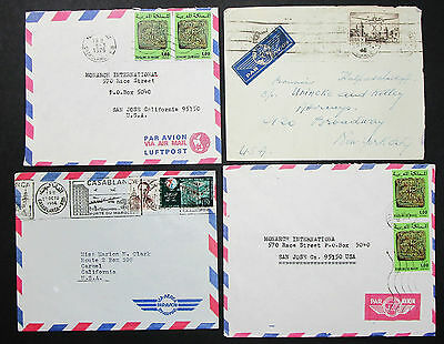 Morocco Set of 4 Covers Letters Envelopes Stamps Lupo Marokko Briefe (H-8380