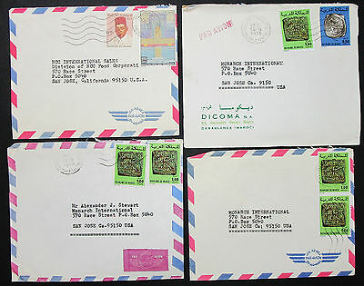 Morocco Set of 4 Covers Letters Envelopes Stamps Lupo Marokko Briefe (H-8382