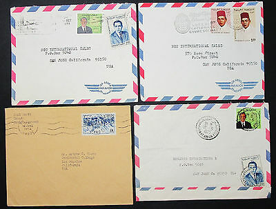 Morocco Set of 4 Covers Letters Loterie Nationale Lupo Marokko Briefe (H-8384