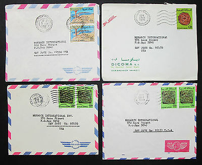 Morocco Set of 4 Covers Letters Envelopes Stamps Lupo Marokko Briefe (H-8381
